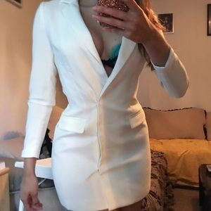 Misguided white blazer dress